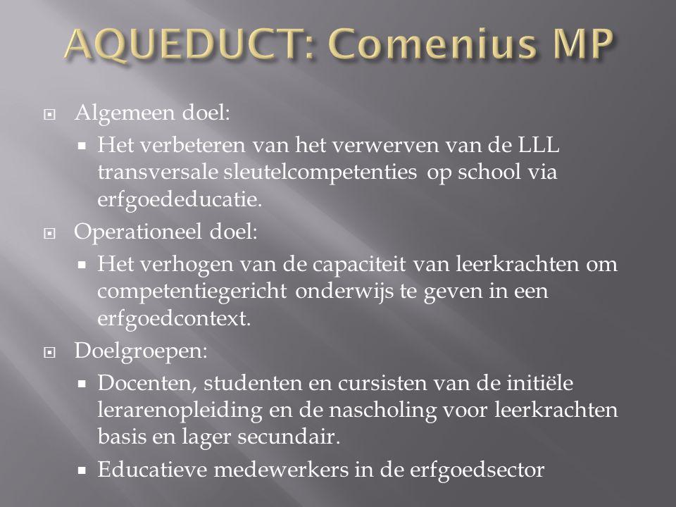 AQUEDUCT: Comenius MP Algemeen doel:
