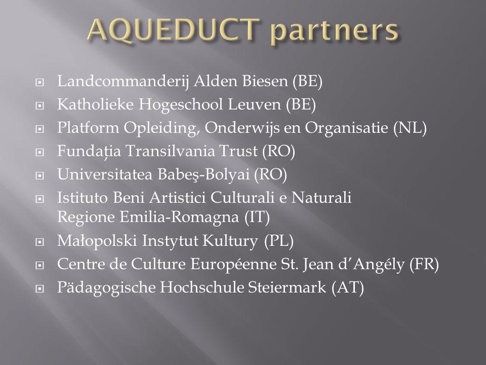 AQUEDUCT partners Landcommanderij Alden Biesen (BE)