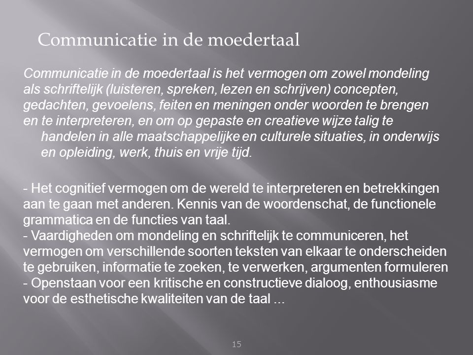 Communicatie in de moedertaal