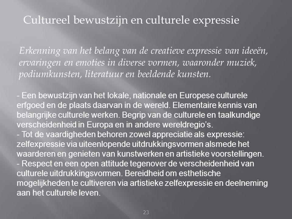 Cultureel bewustzijn en culturele expressie