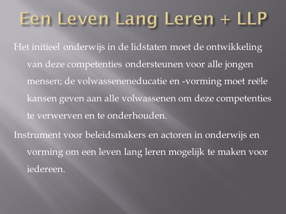 Een Leven Lang Leren + LLP