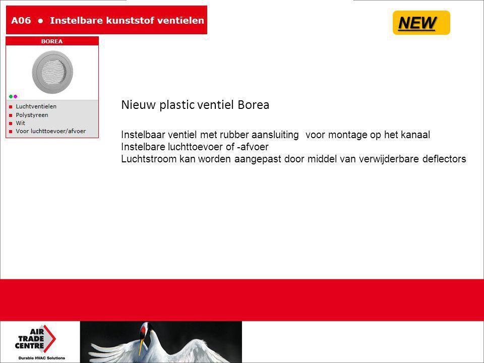 NEW Nieuw plastic ventiel Borea