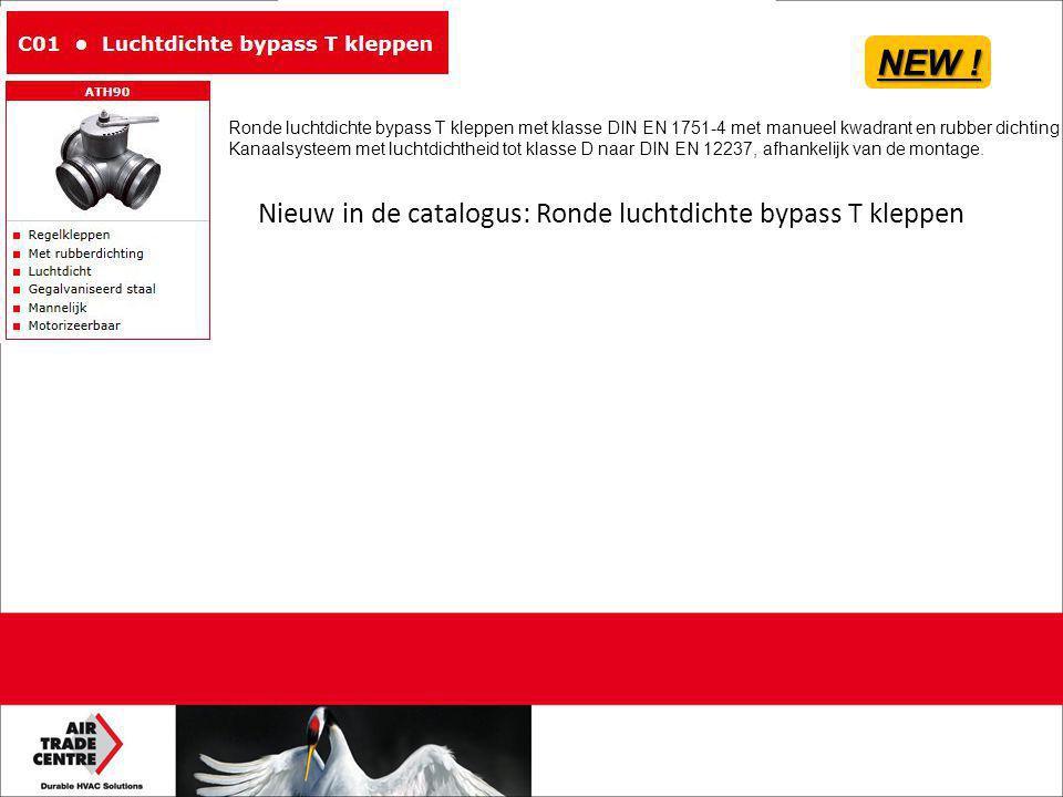 NEW ! Nieuw in de catalogus: Ronde luchtdichte bypass T kleppen