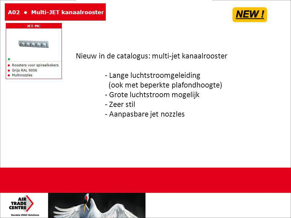 NEW ! Nieuw in de catalogus: multi-jet kanaalrooster