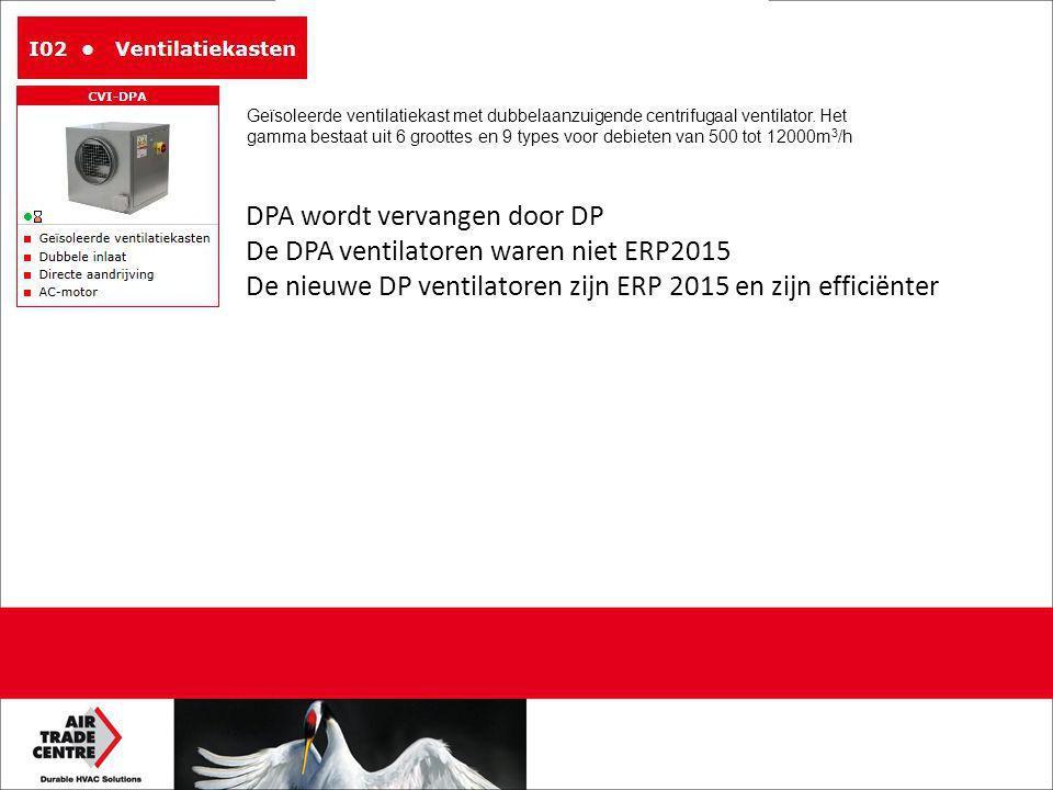 DPA wordt vervangen door DP De DPA ventilatoren waren niet ERP2015