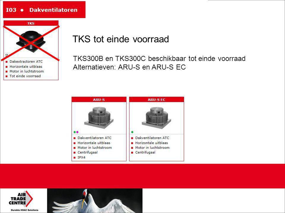 TKS tot einde voorraad TKS300B en TKS300C beschikbaar tot einde voorraad.