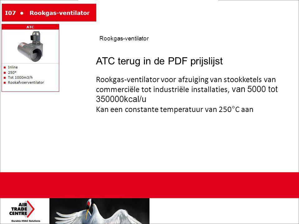 ATC terug in de PDF prijslijst