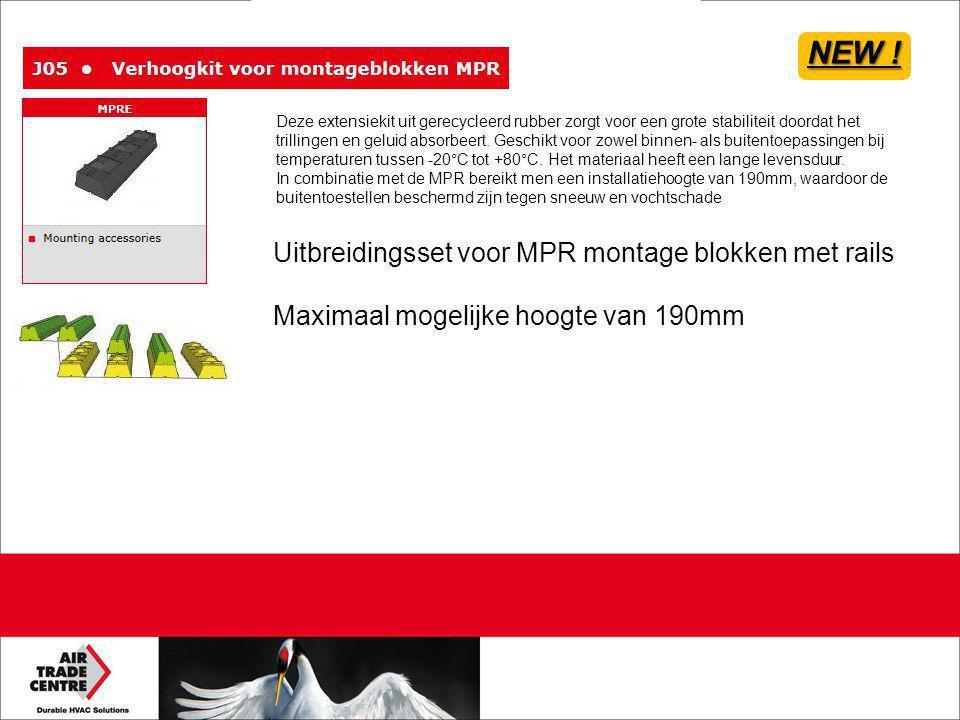 NEW ! Uitbreidingsset voor MPR montage blokken met rails