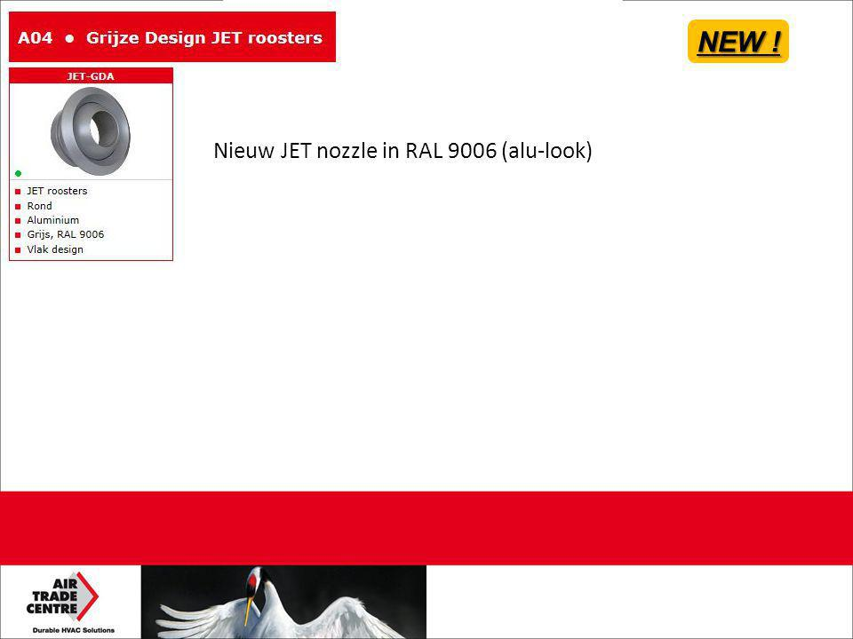 NEW ! Nieuw JET nozzle in RAL 9006 (alu-look)