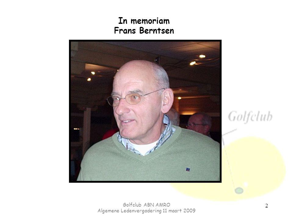 In memoriam Frans Berntsen