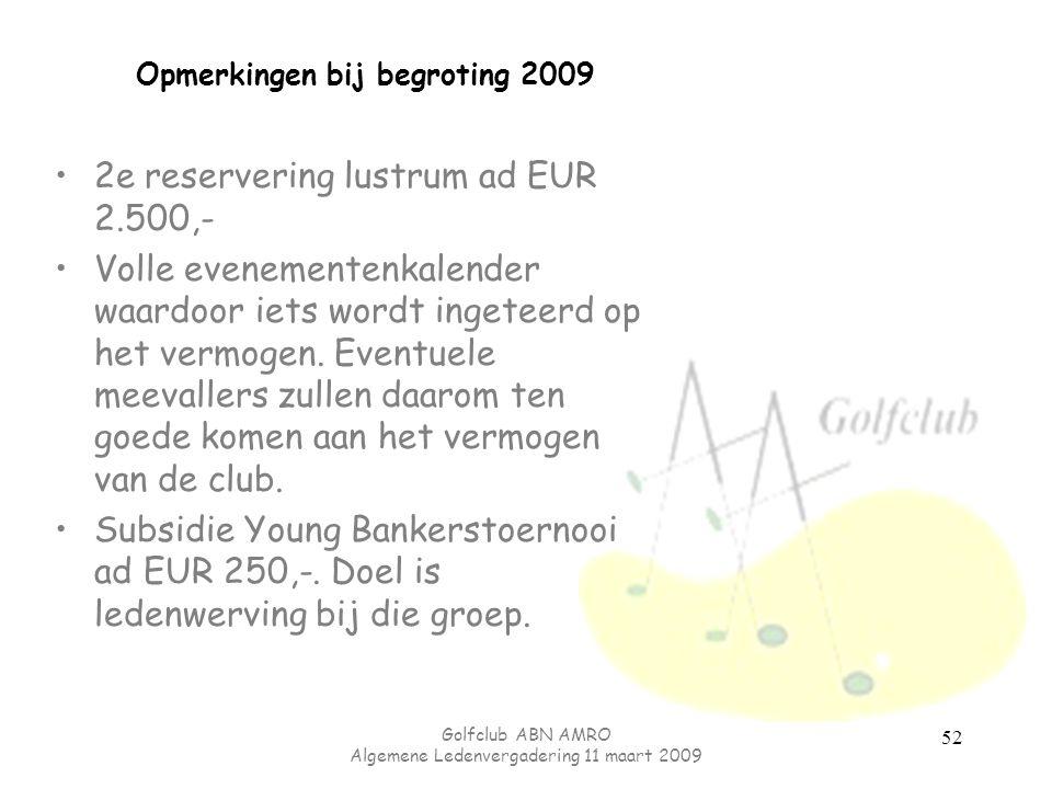 Opmerkingen bij begroting 2009