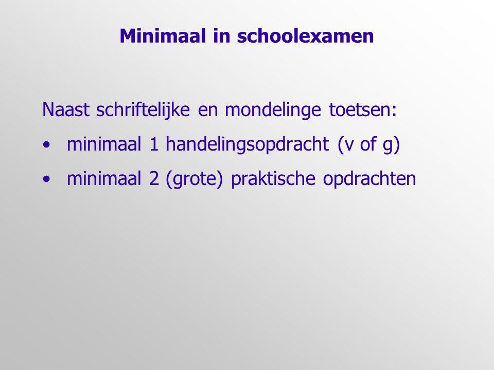 Minimaal in schoolexamen
