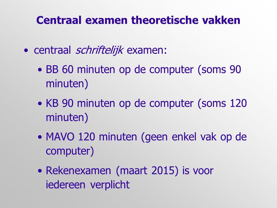 Centraal examen theoretische vakken