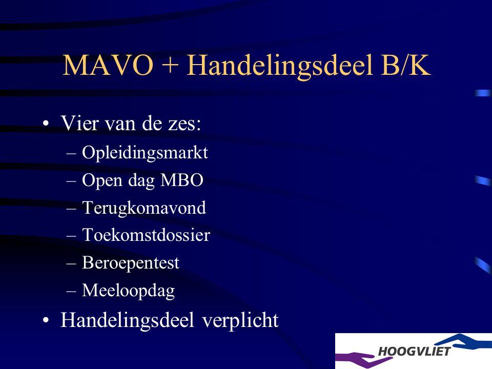 MAVO + Handelingsdeel B/K