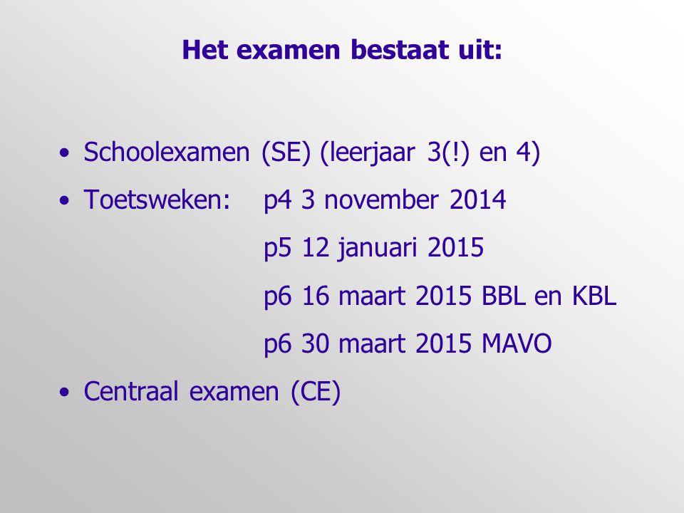 Het examen bestaat uit: