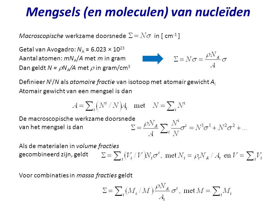 Mengsels (en moleculen) van nucleïden