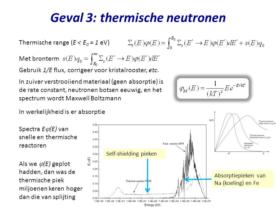 Geval 3: thermische neutronen