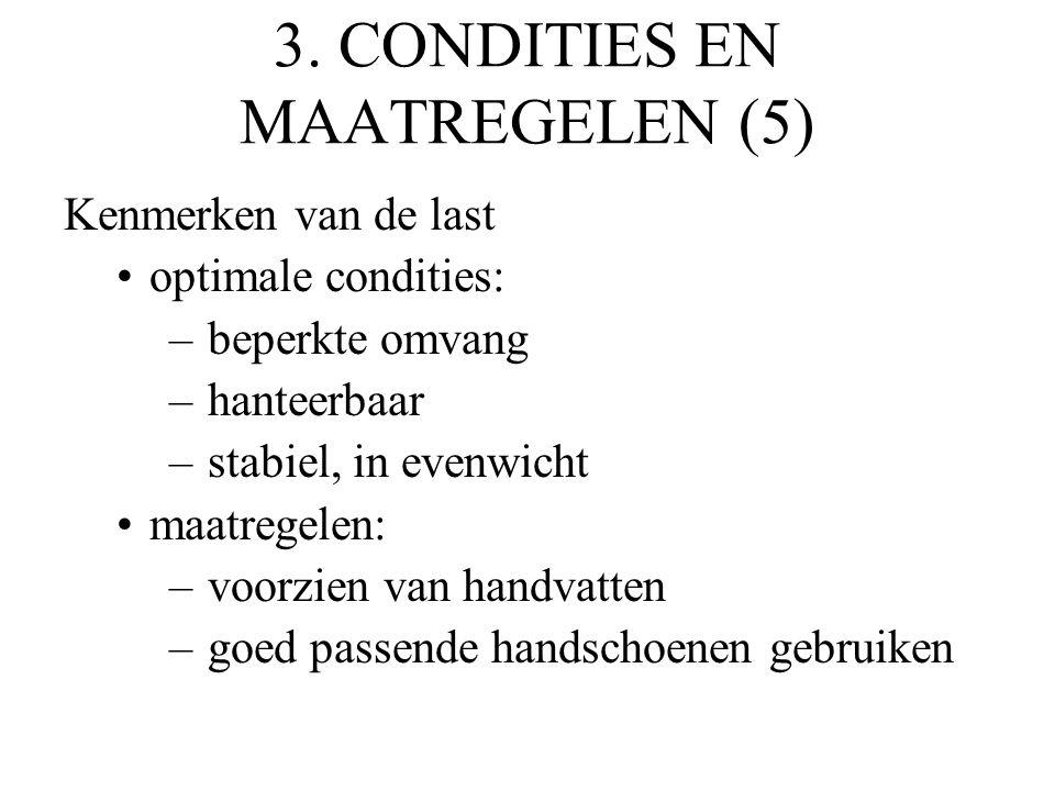 3. CONDITIES EN MAATREGELEN (5)