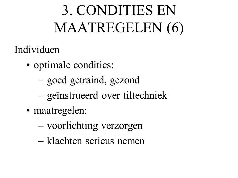3. CONDITIES EN MAATREGELEN (6)