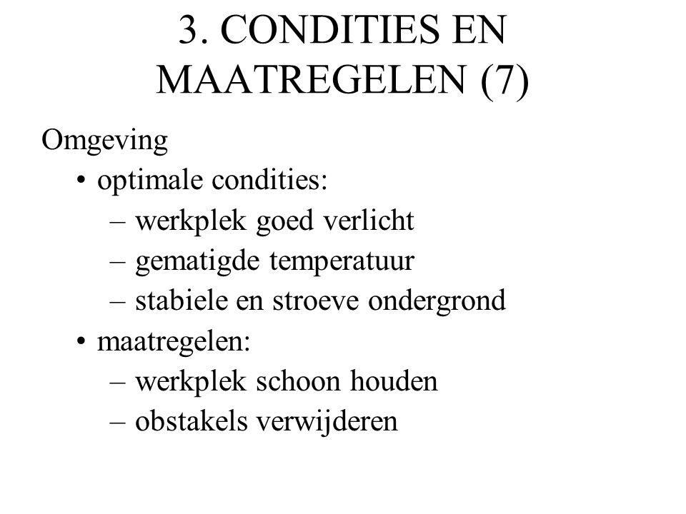 3. CONDITIES EN MAATREGELEN (7)