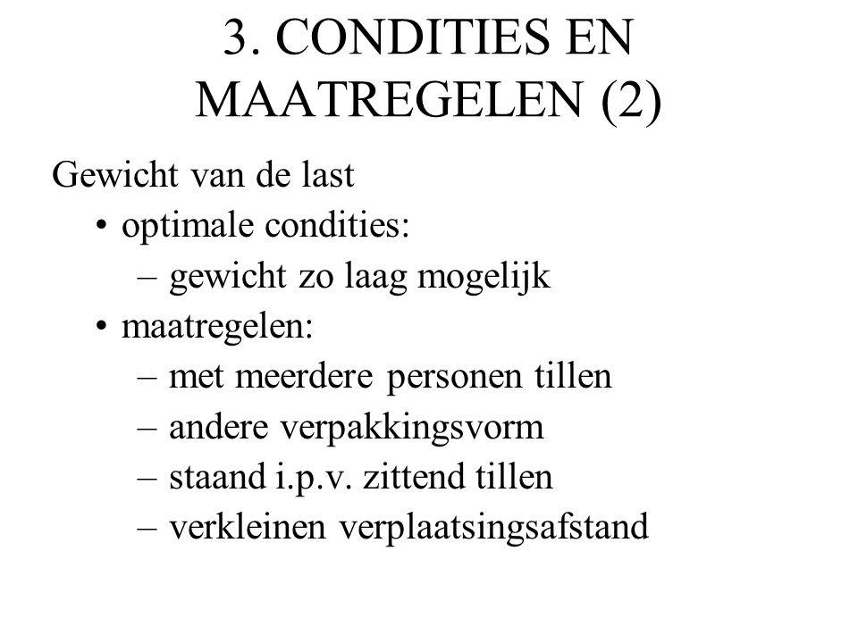 3. CONDITIES EN MAATREGELEN (2)