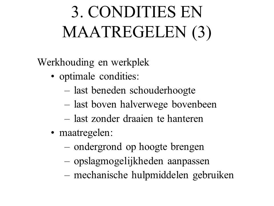 3. CONDITIES EN MAATREGELEN (3)