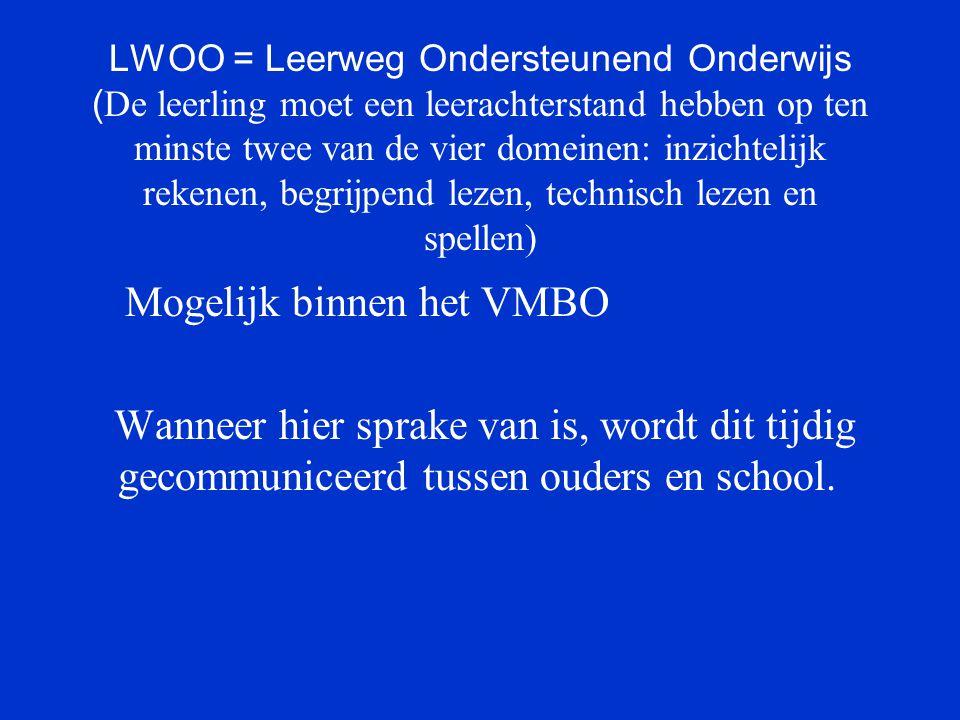 Mogelijk binnen het VMBO