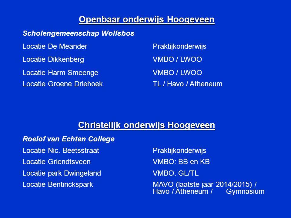 Openbaar onderwijs Hoogeveen Christelijk onderwijs Hoogeveen