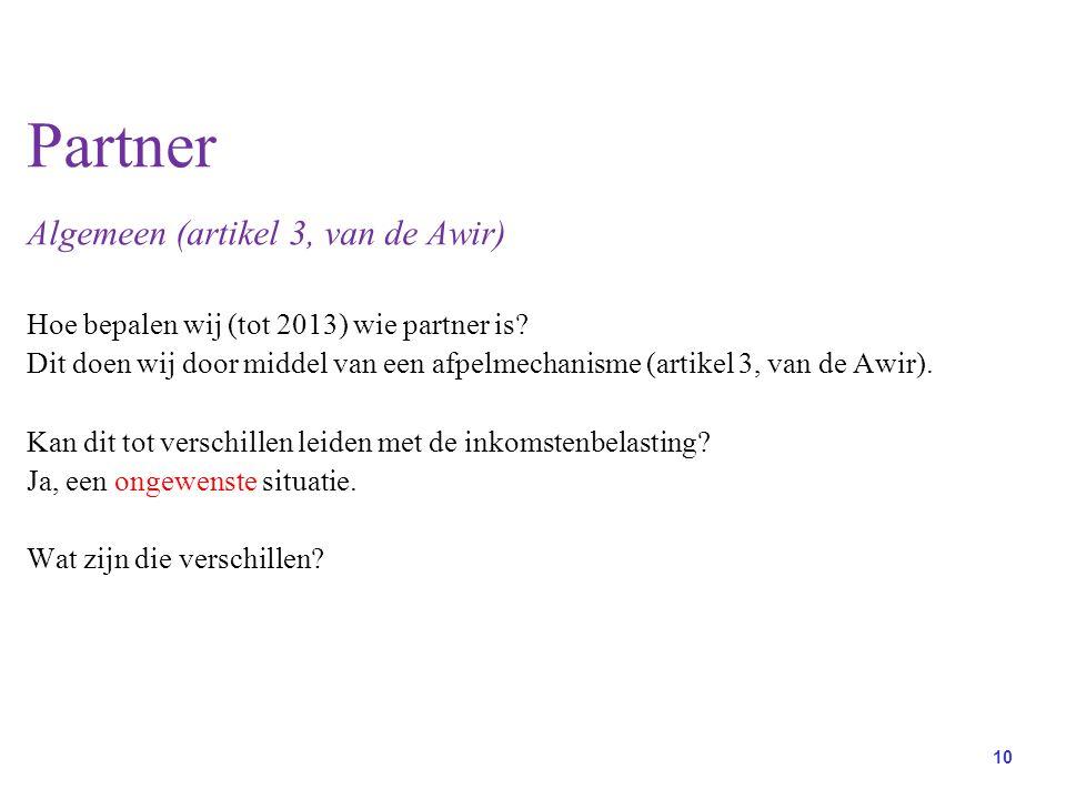 Partner Algemeen (artikel 3, van de Awir)