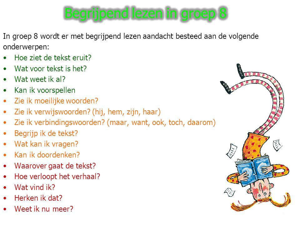 Begrijpend lezen in groep 8