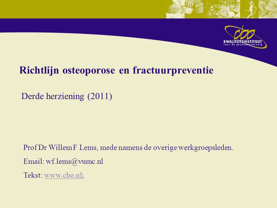 Richtlijn osteoporose en fractuurpreventie