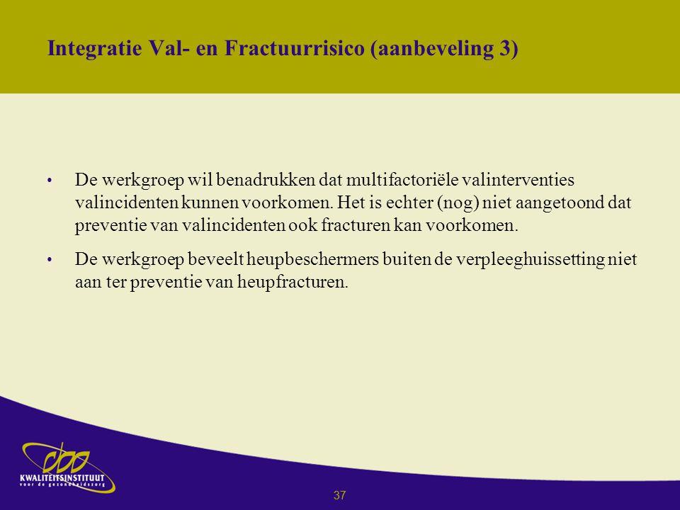Integratie Val- en Fractuurrisico (aanbeveling 3)