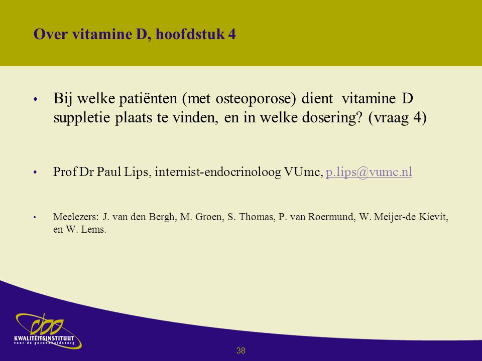 Over vitamine D, hoofdstuk 4