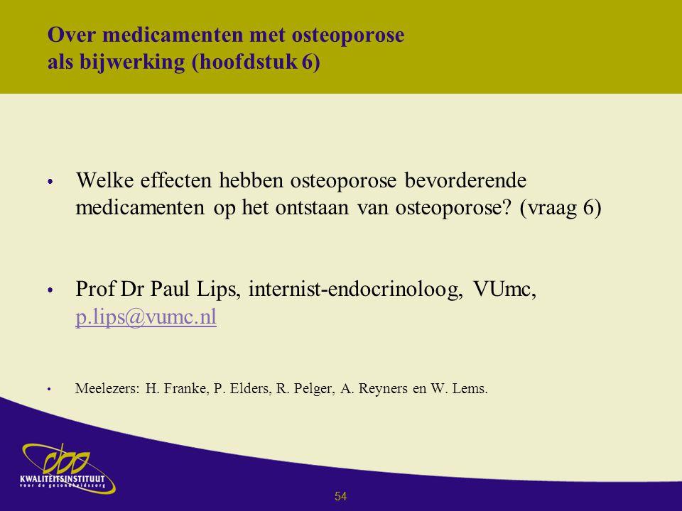 Over medicamenten met osteoporose als bijwerking (hoofdstuk 6)