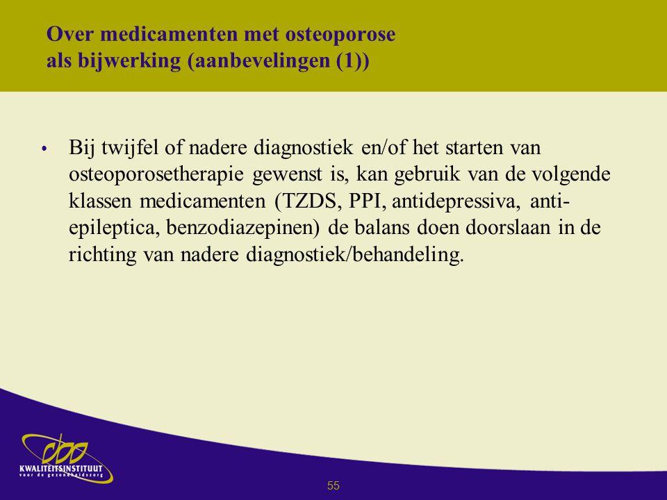 Over medicamenten met osteoporose als bijwerking (aanbevelingen (1))