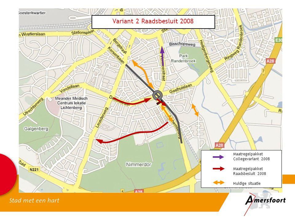 Variant 2 Raadsbesluit 2008 Maatregelpakket Collegevariant 2008