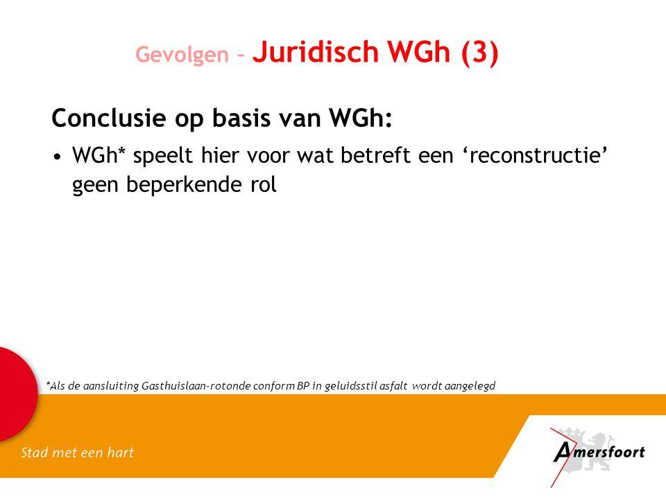 Conclusie op basis van WGh: