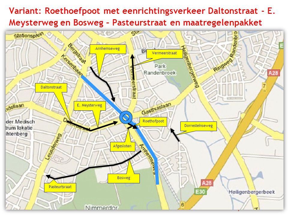 Variant: Roethoefpoot met eenrichtingsverkeer Daltonstraat - E