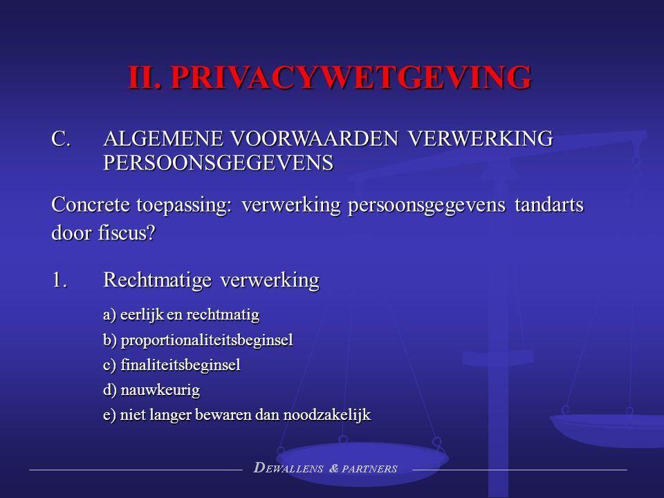 II. PRIVACYWETGEVING ALGEMENE VOORWAARDEN VERWERKING PERSOONSGEGEVENS