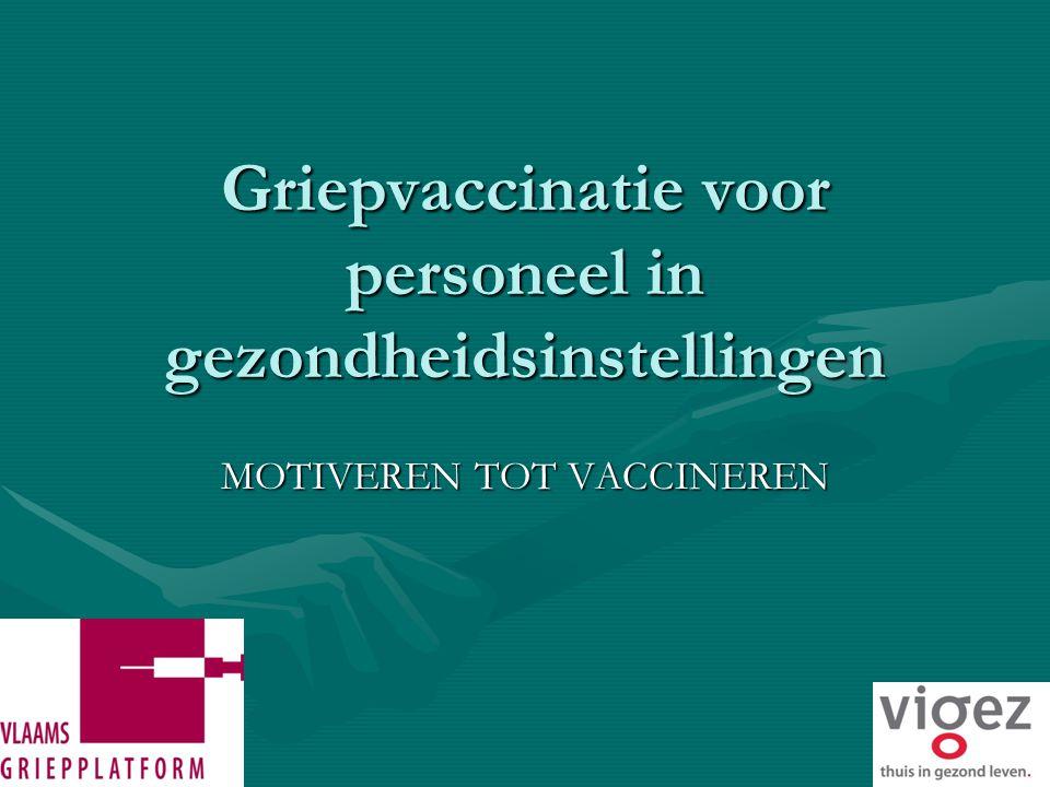 Griepvaccinatie voor personeel in gezondheidsinstellingen