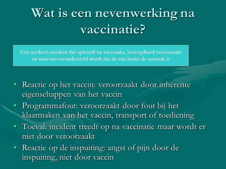 Wat is een nevenwerking na vaccinatie