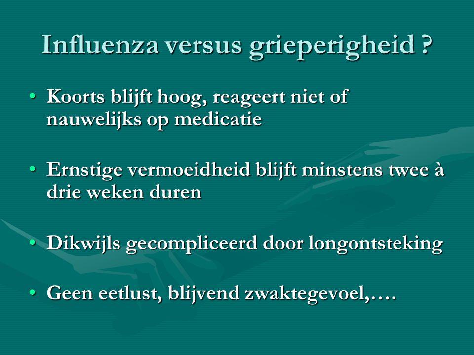 Influenza versus grieperigheid