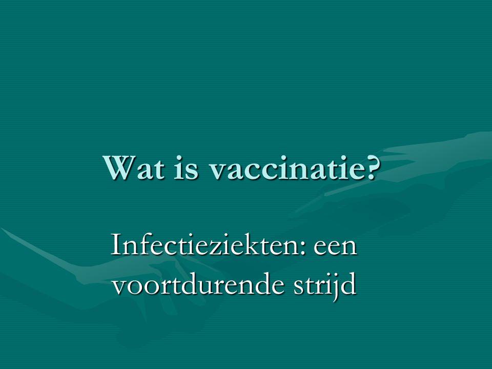 Infectieziekten: een voortdurende strijd