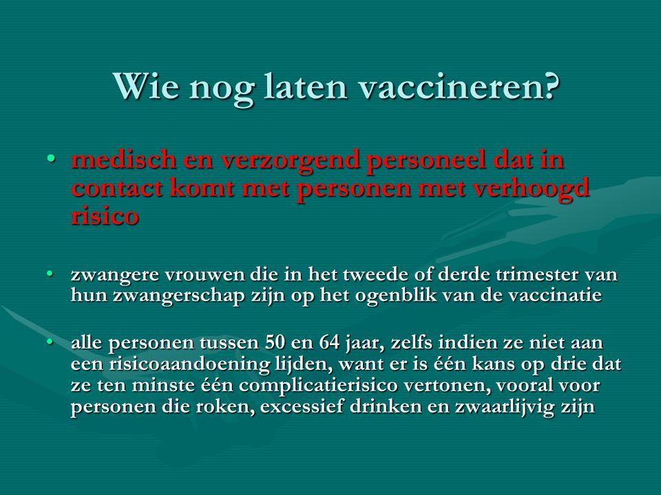 Wie nog laten vaccineren