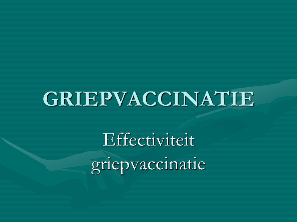 Effectiviteit griepvaccinatie