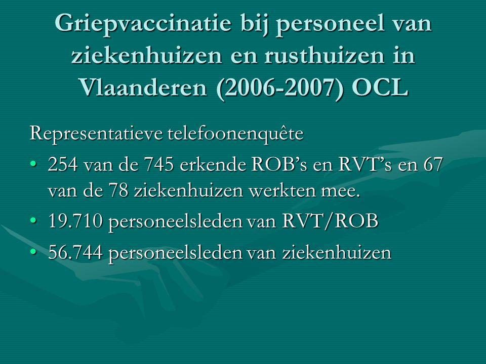 Griepvaccinatie bij personeel van ziekenhuizen en rusthuizen in Vlaanderen (2006-2007) OCL