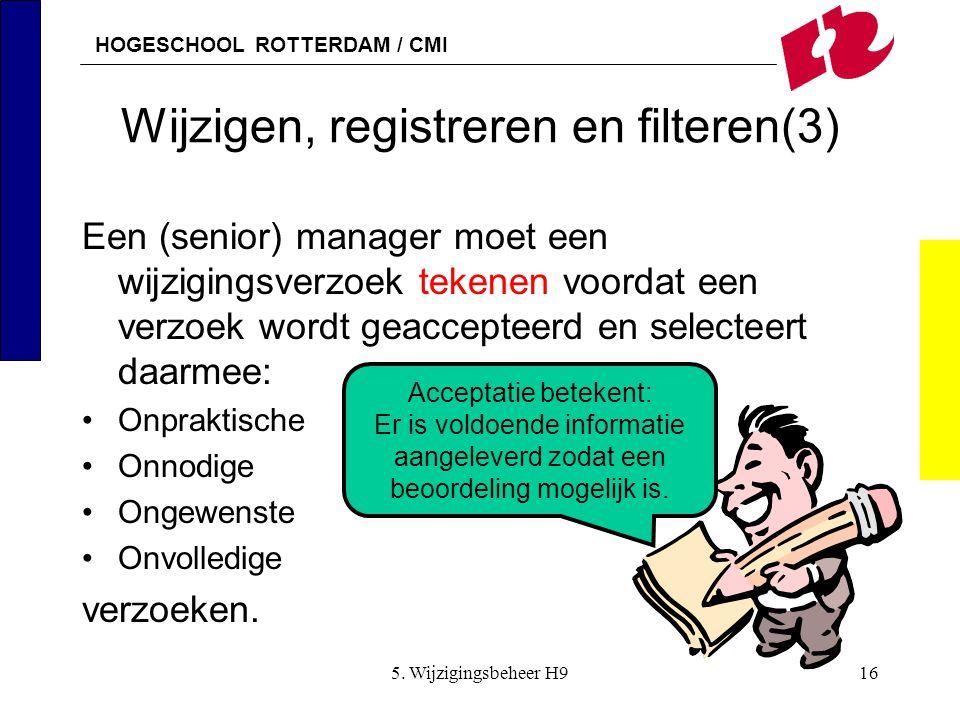 Wijzigen, registreren en filteren(3)