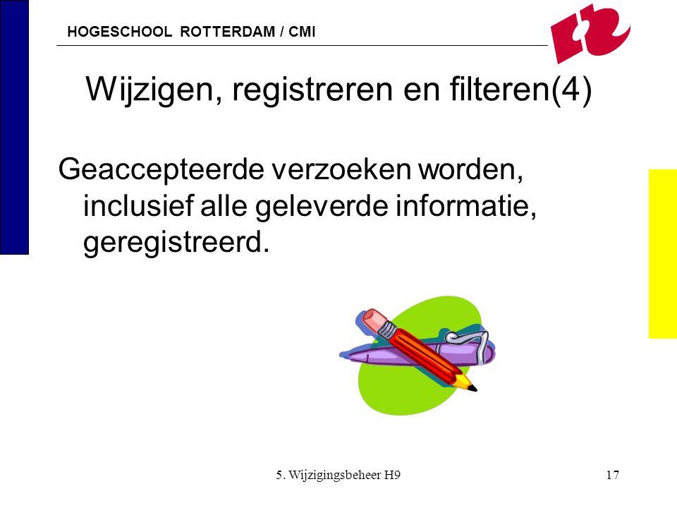Wijzigen, registreren en filteren(4)