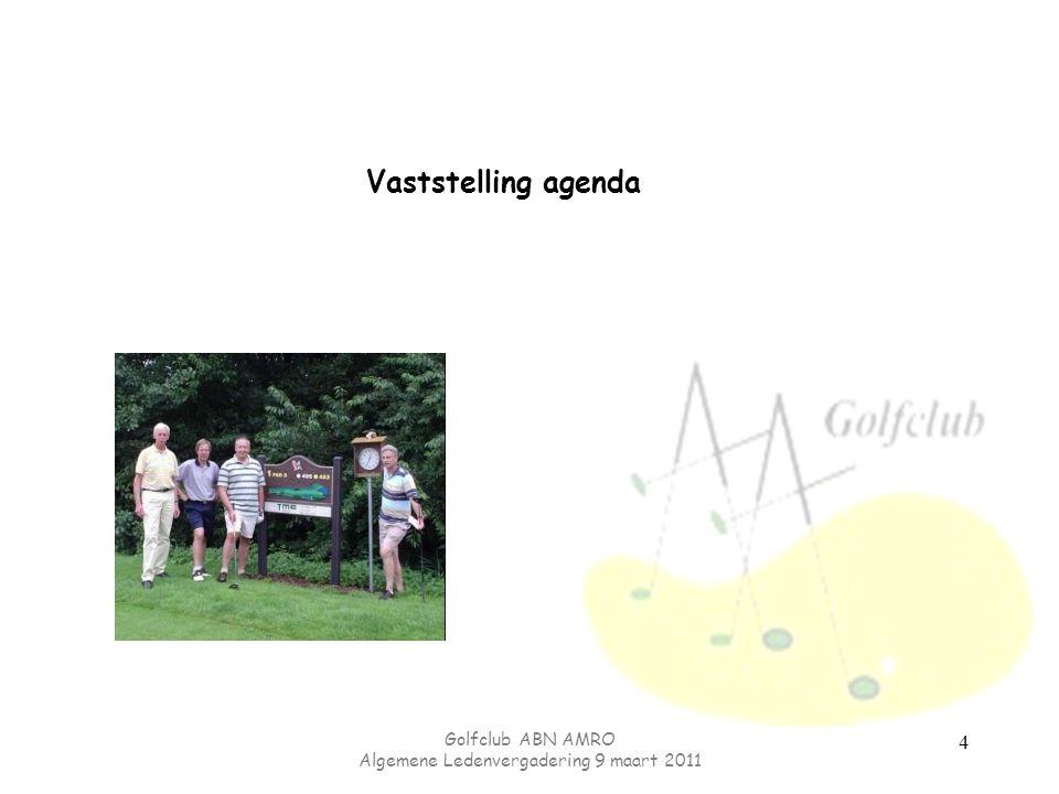 Golfclub ABN AMRO Algemene Ledenvergadering 9 maart 2011