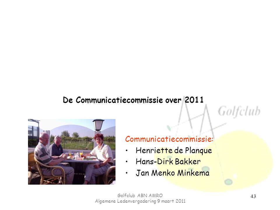 De Communicatiecommissie over 2011